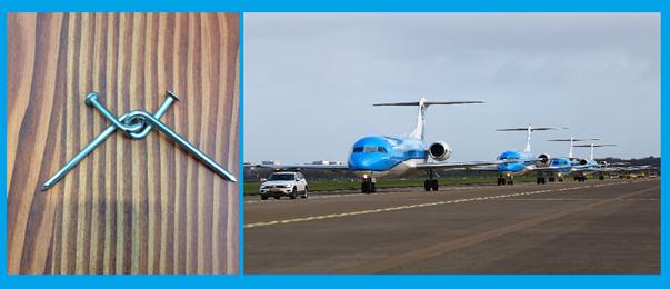 Foto vliegtuig bij interview Peter de Raaf en Hella van der Linden – Rijkswaterstaat